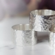 Wide hammered statement rings