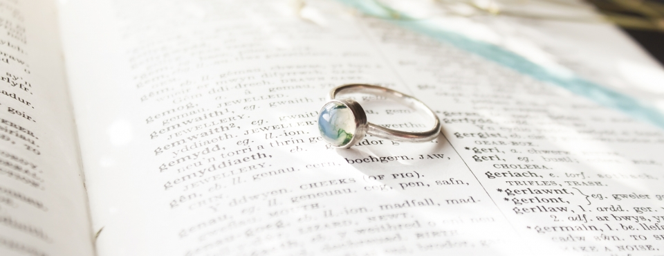 simple moss agate ring